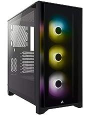 CORSAIR iCUE 4000X RGB 強化ガラス製ミドルタワー ATX PCケース ブラック CC-9011204-WW CS7977