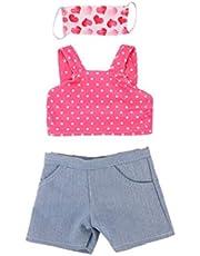 Hiinice Disfraces muñeca Ropa de Vestir Trajes Craft Máscara Top Pantalones de 18 Pulgadas de la muñeca de 3PCS
