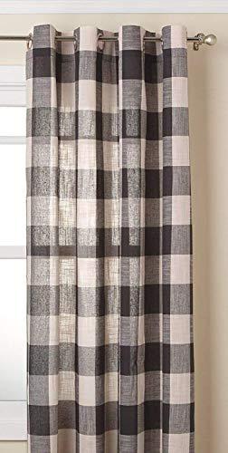 "LORRAINE HOME FASHIONS, Gray, Courtyard Grommet Window Curtain Panel, 53"" X 84"""