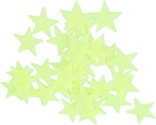 Glow In The Dark 3D Stars Wall Stickers 100Pcs Luminous Fluorescent Plastic Wall Sticker for Kids Baby Room Bedroom Ceilin...