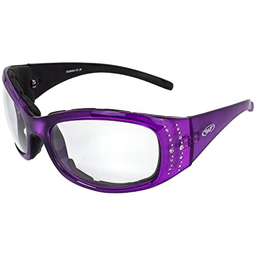 Global Vision Eyewear Marilyn 224Plus Series Occhiali da Sole con Cristallo riflessione Viola Telaio e Trasparente Lenti fotocromatiche