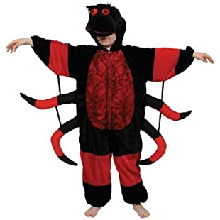 Spider Kids Insect Animal Fancy Dress Child Boys Girls Costume Outfit Large 7-8 Years:Iracematravel