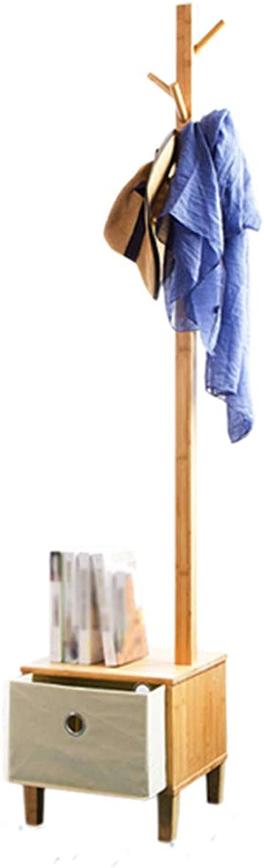 Floor Hanger Multi-Function Clothes Rack Shelf Simple Coat Rack, Primary color, 35cm35cm177cm Haiming (color   Primary color)
