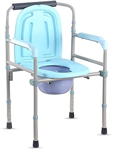 XQMY Silla de Inodoro de Altura Ajustable, Silla de Inodoro portátil, Silla de Ducha de baño, para Ancianos para Mujeres Embarazadas discapacitadas Mayores, Blanco
