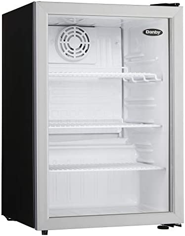 Danby Compact DAG026A1BDB 2 6 Cu Ft Commercial Mini Fridge Glass Door Refrigerator For Office product image