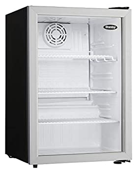 Danby Compact DAG026A1BDB 2.6 Cu.Ft Commercial Mini Fridge Glass Door Refrigerator For Office Countertop Perfect For Snacks Soda Beer Lunch Foods In Black silver