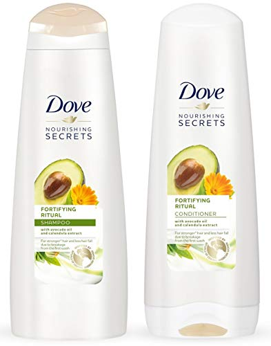 Dove Nourishing Rituals Haircare - Fortifying Ritual - Shampoo & Conditioner Set - Net Wt. 12 FL OZ (355 mL) Per Bottle - One Set