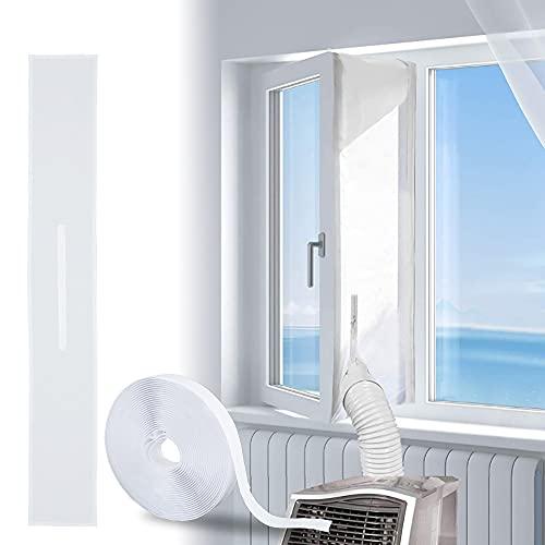 Guarnizione Universale per Finestre per Condizionatore Portatile, Finestra Universale per Climatizzatore, con Zip, Impermeabile, per Condizionata Asciugatrice E Tutti Climatizzatori Mobili (3M*30CM)
