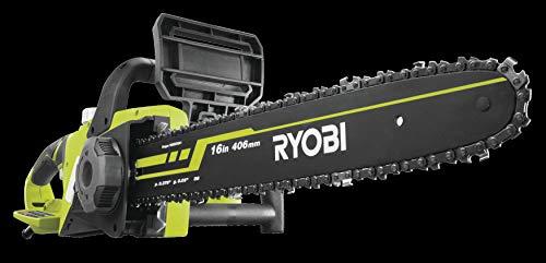 Ryobi Elektro Kettensäge (2300 W, Schwertlänge 40 cm, Kettenbremse, werkzeuglose Kettenspanneinrichtung, inkl. Messerschutzhülle + Kettenöl) RCS2340B