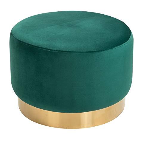 CARO-Möbel Sitzhocker Sesto Polsterhocker Pouf Samtbezug in grün