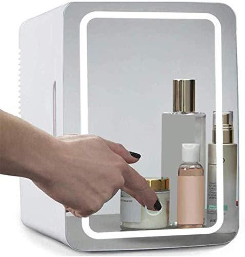 Mini Fridge Skincare Fridge 10 litros/Coche Congelador de Mute LCD Panel de LCD Enfriador y amp Calentador Pequeño refrigerador Portátil AC/DC Frigorífico pequeño para automóvil y hogar Termo