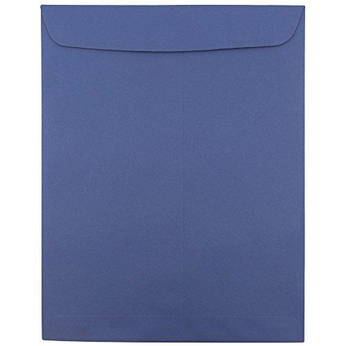 JAM PAPER 10 x 13 Open End Catalog Premium Envelopes - Presidential Blue - 100/Pack