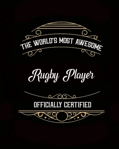 Daily Organizer and Planner: Most Awesome Rugby Player: 180 Day 8