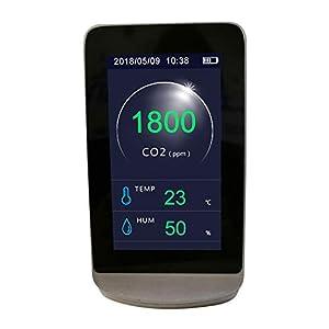 Kecheer Co2 medidor detector calidad aire,Medidor de co2 y humedad/temperatura,Detector de dióxido de carbono,Analizador de co2