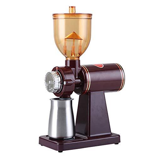 Elektrische Kaffeemühle Konische Kaffeemühle, Tragbar Mit Stufenlos Einstellbarer Mahlung Für Kaffeebohnen, Gewürze, Nüsse Und Getreide,Rot,stainless steel 110V