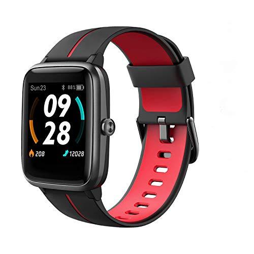 Fitpolo, smartwatch, GPS, running, smartwatch da uomo con cardiofrequenzimetro, contapassi, monitoraggio del sonno, impermeabilità IP68, orologio digitale per iPhone Android (nero)