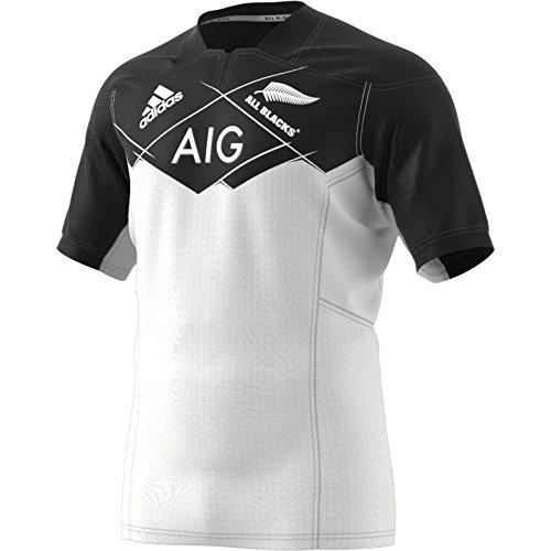 adidas Ab A Jsy Camiseta Equipación All Blacks Selección Rugby Nueva Zelanda, Hombre, Blanco (Blanco), M