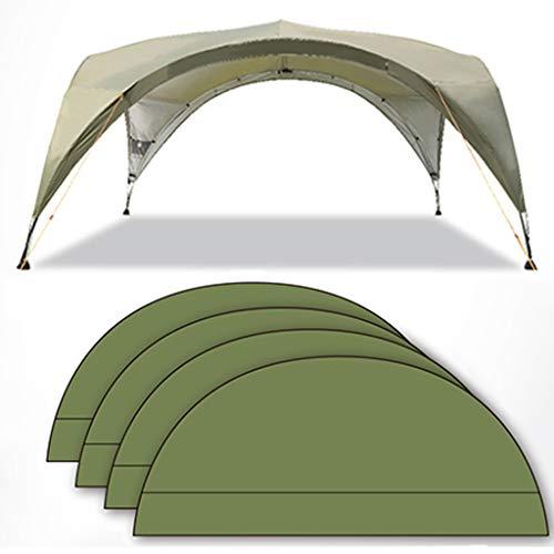 Tent Kuppel Pavillon Kuppelzelt Garten Camping, Outdoor Partyzelt Freien Mit Bildschirmtür, Markise Für Familie, Reisen, Urlaub, Sternenhimmel/Grün/Khaki