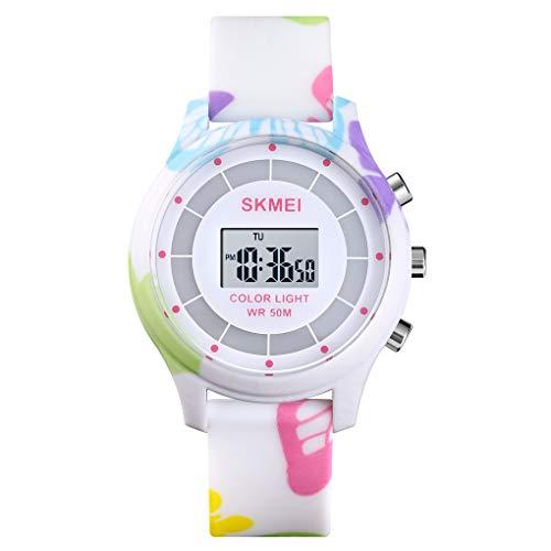 Reloj digital LED para niños y niñas, con pantalla luminosa, regalo para niños