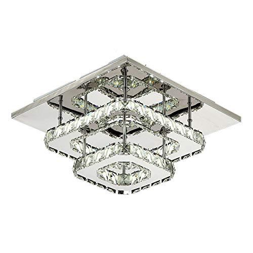 LED Kristall Deckenleuchte,Kristall Kronleuchter Lichter für die Küche, Schlafzimmer, Küche und Restauran,36W,30cm (Kaltes Weiß)