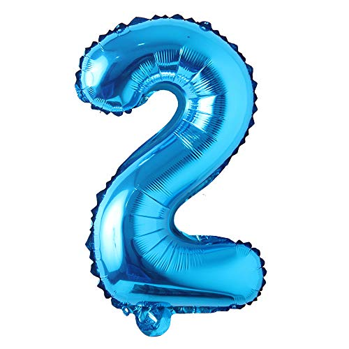 Blue 28 inch Letter Balloons Alphabet Number Balloons Foil Mylar Party Wedding Bachelorette Birthday Bridal Baby Shower Graduation Anniversary Celebration Decoration (Can not Float) (28 inch Blue 2)