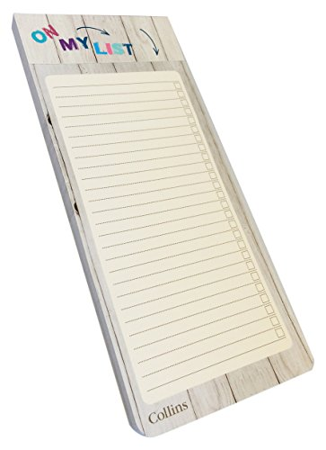 Collins Slim Shopping List with Magnetic Back for Fridge Hanging (Pack of 200 Sheets), Brighton