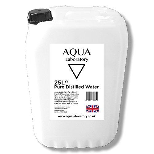 AQUA LABORATORY Pure Steam Distilled Water (25 Liters) (25 LITERS UN)