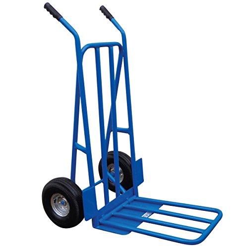 Charles Bentley - Sackkarre mit Luftreifen - robust & klappbar - 300 kg - Blau
