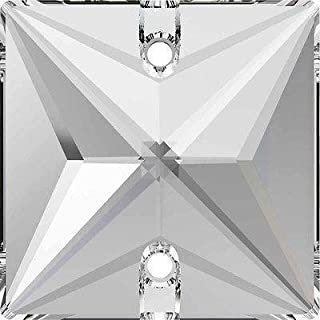 3240 Swarovski Sew On Crystals Square | Crystal | 22mm - 3240 Square Stones | Small & Wholesale Packs