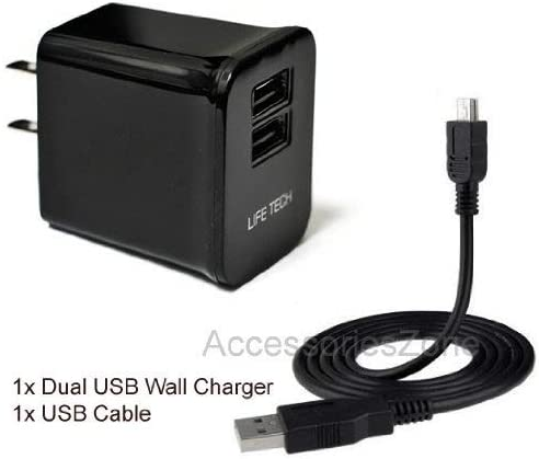 For Dell Venue 7 / Venue 8 Tablet Dual USB Home Wall Charger w/USB Cable