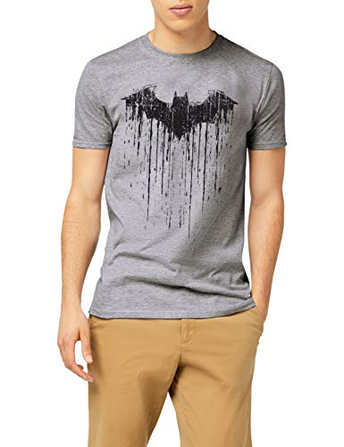 DC Comics Herren Batman Paint T-Shirt, Grau (Sports Grey SPO), L