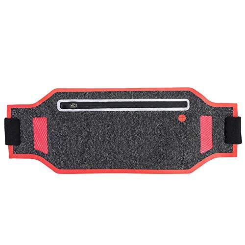 Keenso Bolsa de Bolsa Delgada sin Rebote para cinturón de Correr, riñonera Cinturón de Entrenamiento Paquete de Cintura Deportiva Bolsa de cinturón para Apple iPhone XR XS 8 X 7 en(Rojo ladrillo)