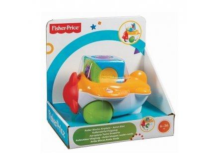 Fisher-Price - Avion Bloc / Roller Cube 6-36 Mois