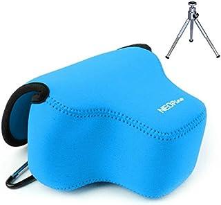First2savvv QSL-SX60-03G6 Funda Bolsa Cámaras estuche para cámara fotográfica - Canon Powershot SX60 HS + mini trípode