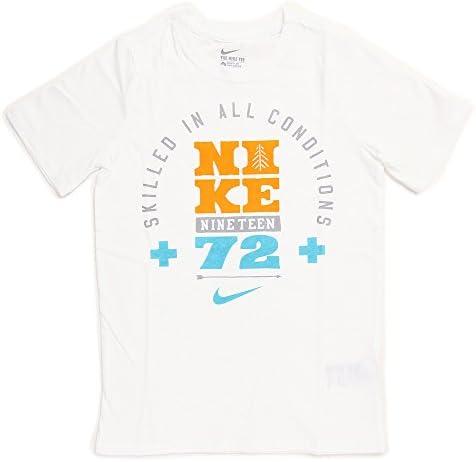 Nike Camiseta de Manga Corta Blanco para Niño