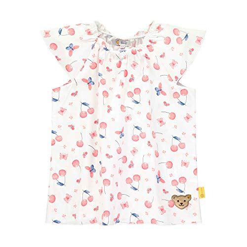 Steiff Mädchen Tunika T-Shirt, Weiß (Bright White 1000), 92 (Herstellergröße: 092)