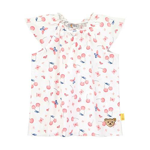 Steiff Mädchen Tunika T-Shirt, Weiß (Bright White 1000), 98 (Herstellergröße: 098)