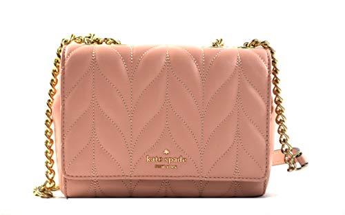 Kate Spade Mini Emelyn Briar Lane Quilted Leather Convertible Shoulder Crossbody Bag Purse Handbag, Rosy Cheeks