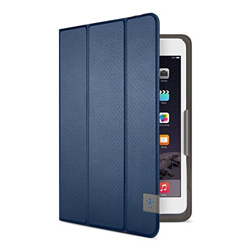 Belkin Perforated TriFold Folio Case with Multiple Viewing Angles for iPad Mini 4, iPad Mini 3, iPad Mini 2 and iPad Mini - Deep Sea Blue