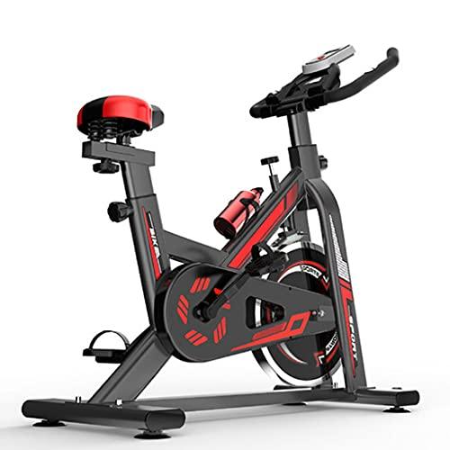 WOERD Bici Estatica Indoor Bicicleta Indoor con Disco de Inercia de 6 Kg y Resistencia Regulable, Bici de Entrenamiento Fitness con Sillín Ajustable, Pulsómetro y Pantalla LCD, hasta 150 Kg