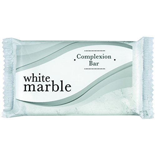 White Marble Dia 06010 Individually Wrapped Basics Bar Soap, 1.5 oz. (Pack of 500)