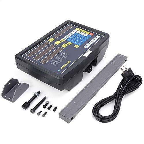 JCS900-3AE Pantalla de escala de lectura 0~3020 mm DC5V 1 m/s TTL Fresadora Codificador Pantalla numérica Tabla 1 (Accesorios con colores aleatorios)(Enchufe de la UE)