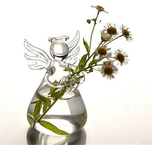 Bloem van het glas Vazen Angel Vaas Huwelijksgeschenken Home Decoration Vvase Lucky Angel Bloempotten Decoratieve Vaas voor Verjaardag Wedding (Color : As Shown)