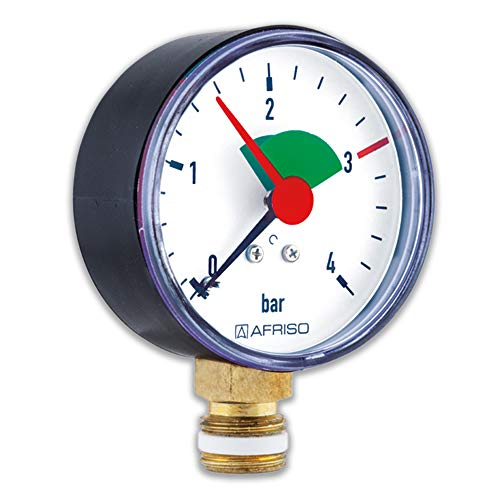Rohrfeder-Manometer für Heizung/Sanitär - Radial, Afriso, Ø80mm, DN15 (1/2