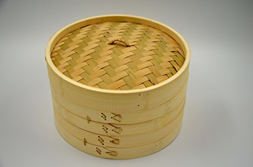 Masterproofing Garkörbchen 3-teilig Bambus Dampfgarer SET 25,4cm