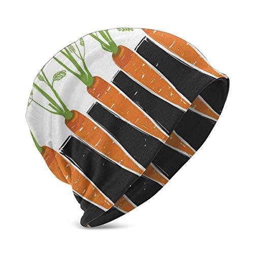 Mamihong Racines de Carotte de Plus en Plus de Plantes de literie Ferme écologie Alimentaire thème et Citation, Unisexe Adolescent Divers Styles de Bonnet en Tricot