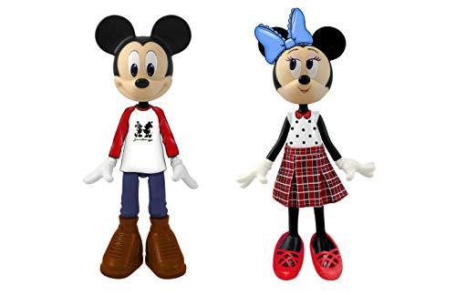 Minnie Disney- Disney Minnie Mouse, Playset de 2 muñecas-Minnie & Mickey Set, Color Verde (Jakks Pacific 209474)