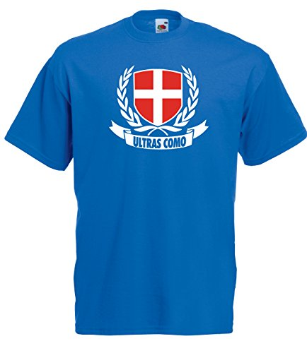 Settantallora - T-Shirt Maglietta J1773 Stemma Ultras Como Taglia M