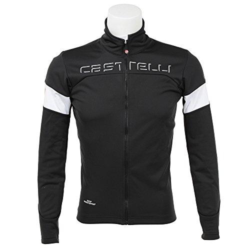 Castelli Chaqueta Ciclismo 2017 Transition Negro-Blanco (M, Negro)