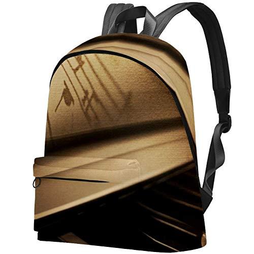 Klavier Bag Teens Student Bookbag Leichte Umhängetaschen Reiserucksack Tägliche Rucksäcke